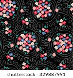 trendy seamless floral pattern... | Shutterstock .eps vector #329887991