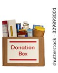 food donation box isolated on... | Shutterstock . vector #329893001