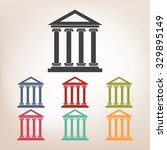 historical building icon set ... | Shutterstock . vector #329895149