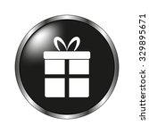 gift icon   vector button
