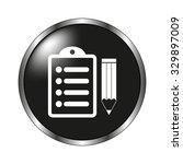 notepad icon   vector button | Shutterstock .eps vector #329897009
