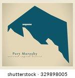 modern map   port moresby ... | Shutterstock .eps vector #329898005