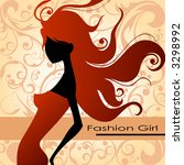 fashion girl | Shutterstock .eps vector #3298992