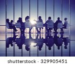 business people meeting... | Shutterstock . vector #329905451