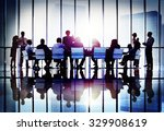 meeting seminar conference... | Shutterstock . vector #329908619