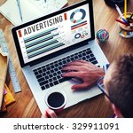 Small photo of Advertising Digital Marketing Commercial Promotion Concept