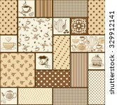seamless patchwork tile with... | Shutterstock .eps vector #329912141