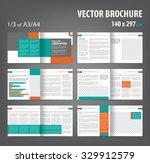 vector empty bi fold brochure