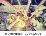 food table healthy delicious... | Shutterstock . vector #329913101