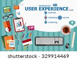 user experience and flat design ... | Shutterstock .eps vector #329914469