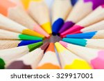 many different colored pencils... | Shutterstock . vector #329917001