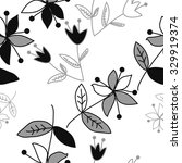 seamless   pattern  with floral ... | Shutterstock . vector #329919374