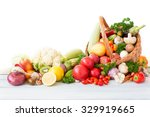 Fresh Vegetables And Fruit In...