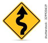traffic sign  right zig zag... | Shutterstock .eps vector #329920619