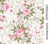 seamless floral pattern with... | Shutterstock .eps vector #329923061