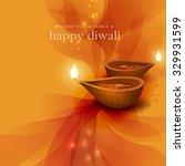 diwali festival background. | Shutterstock .eps vector #329931599