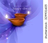 diwali festival background. | Shutterstock .eps vector #329931605