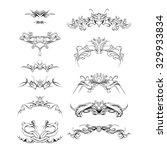 vintage baroque frame vector | Shutterstock .eps vector #329933834