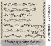 vintage vignettes for document... | Shutterstock .eps vector #329936099
