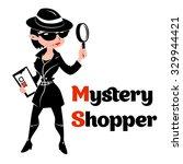 black and white mystery shopper ... | Shutterstock .eps vector #329944421