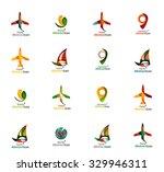 set of abstract travel logo... | Shutterstock .eps vector #329946311