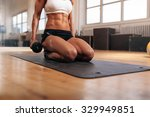 Cropped Image Of Muscular Woman ...