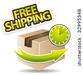 free shipping vector glossy icon