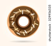 beloved donut with chocolate... | Shutterstock .eps vector #329956535