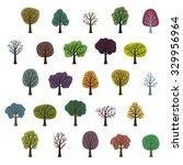 set of various trees   vector... | Shutterstock .eps vector #329956964