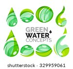 set of abstract eco water icons ... | Shutterstock . vector #329959061