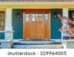 a nice entrance of a luxury... | Shutterstock . vector #329964005