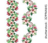 christmas seamless border... | Shutterstock . vector #329964641