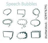 Comic Speech Bubbles On White...