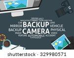vector backup camera concept... | Shutterstock .eps vector #329980571