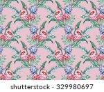 tropical nature seamless... | Shutterstock . vector #329980697