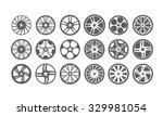 icon car wheel silhouette | Shutterstock .eps vector #329981054
