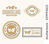 logo or badge  label  logotype... | Shutterstock .eps vector #329993621