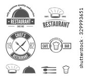set of logo and logotype... | Shutterstock .eps vector #329993651
