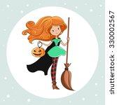 witch  halloween witch  little...   Shutterstock .eps vector #330002567