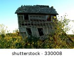Old Farm House With Wild Yellow ...