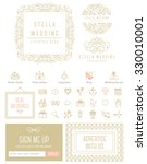 blog kit icons and symbols for... | Shutterstock .eps vector #330010001