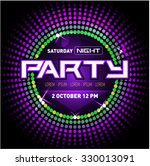 party disco club flyer template ...   Shutterstock .eps vector #330013091