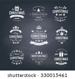 set typographic christmas... | Shutterstock .eps vector #330015461