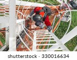 Industrial Climber Climbs The...