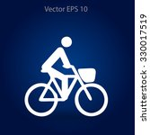 flat cyclist icon | Shutterstock .eps vector #330017519