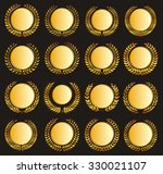 set vector gold medal and... | Shutterstock .eps vector #330021107