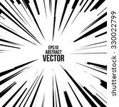 comic radial speed lines.... | Shutterstock .eps vector #330022799