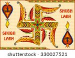 illustration of happy diwali... | Shutterstock .eps vector #330027521