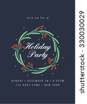 Holiday Party Invitation With...