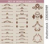 set of design elements. vector... | Shutterstock .eps vector #330030989